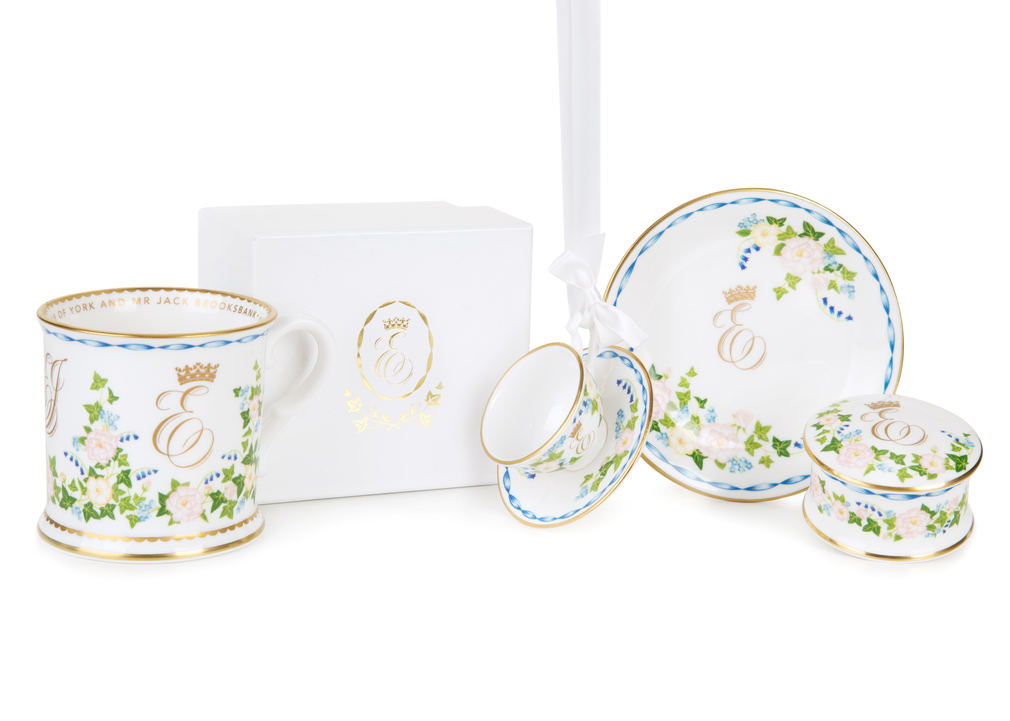 Official range of china to celebrate the wedding of HRH Princess Eugenie of York and Mr Jack Brooksbank