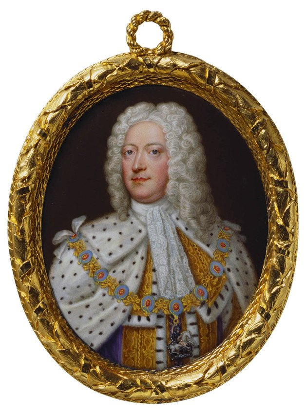 Miniature portrait of George II