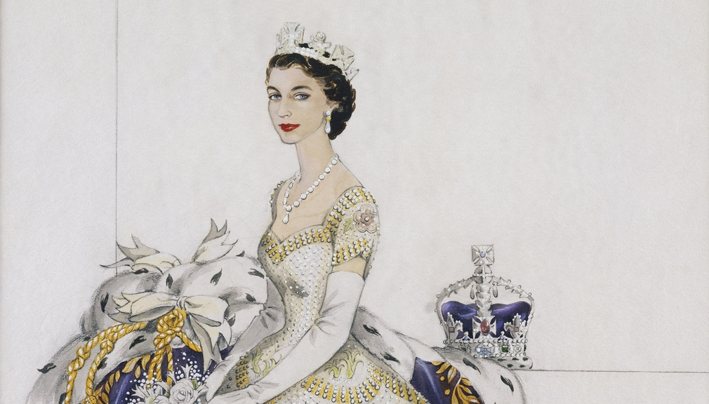 Her Majesty The Queen in her Coronation Dress, 1953, Norman Hartnell