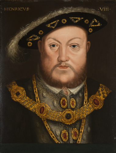 Head and shoulders portrait of Henry VIII
