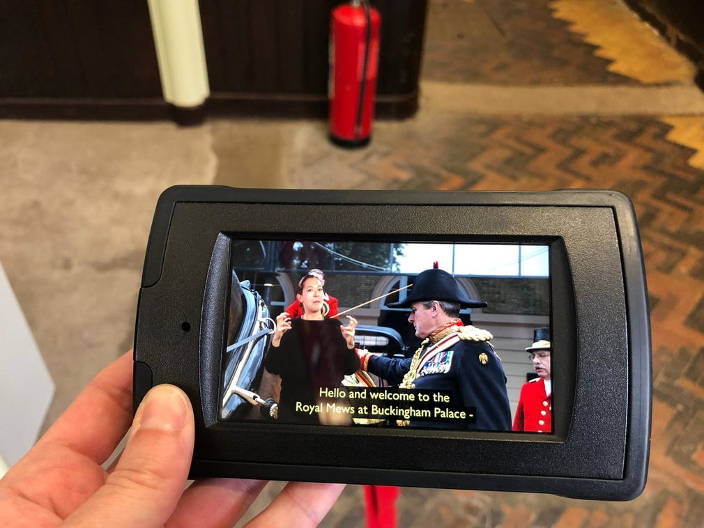 A hand-held device showing a BSL video