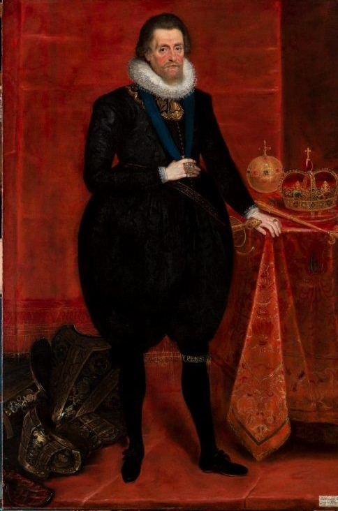 Full-length portrait of James VI and I
