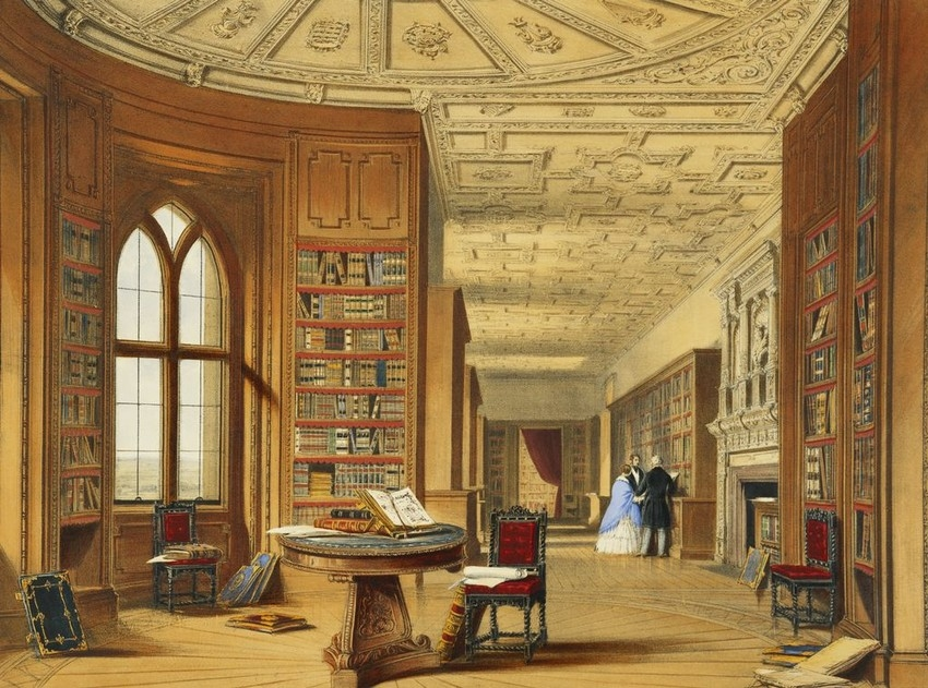 View of the Royal Library at Windsor Castle