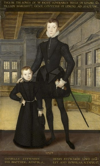 Full-length portrait of Henry Stuart, Lord Darnley and his younger brother Charles