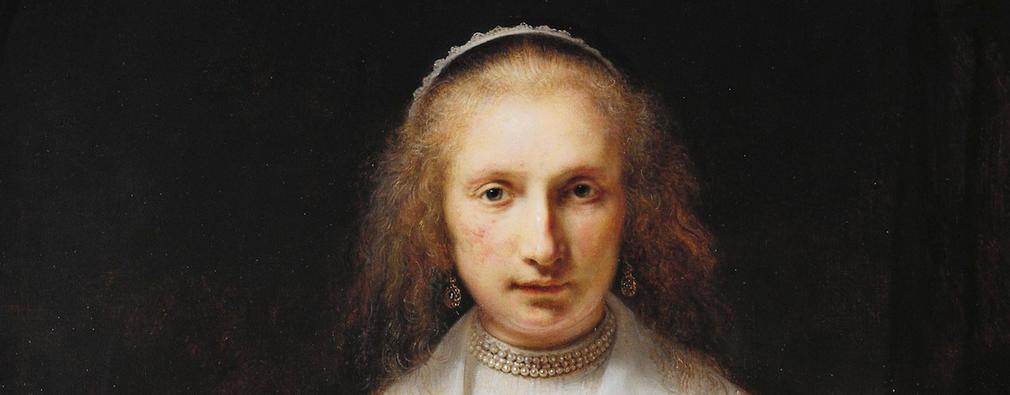 Detail of Agatha Bas's head, facing the viewer