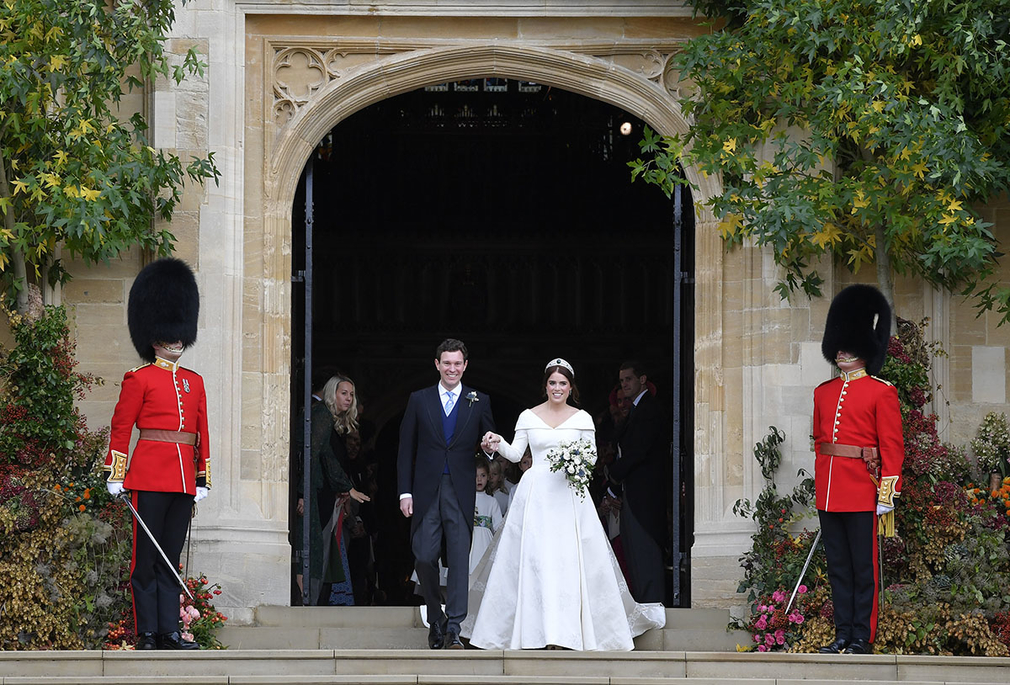 Princess Eugenie and Mr Jack Brooksbank on their wedding day