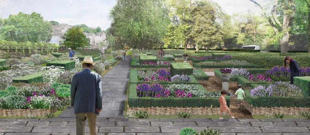 An artist's impression of the new physic garden at the Palace of Holyroodhouse.