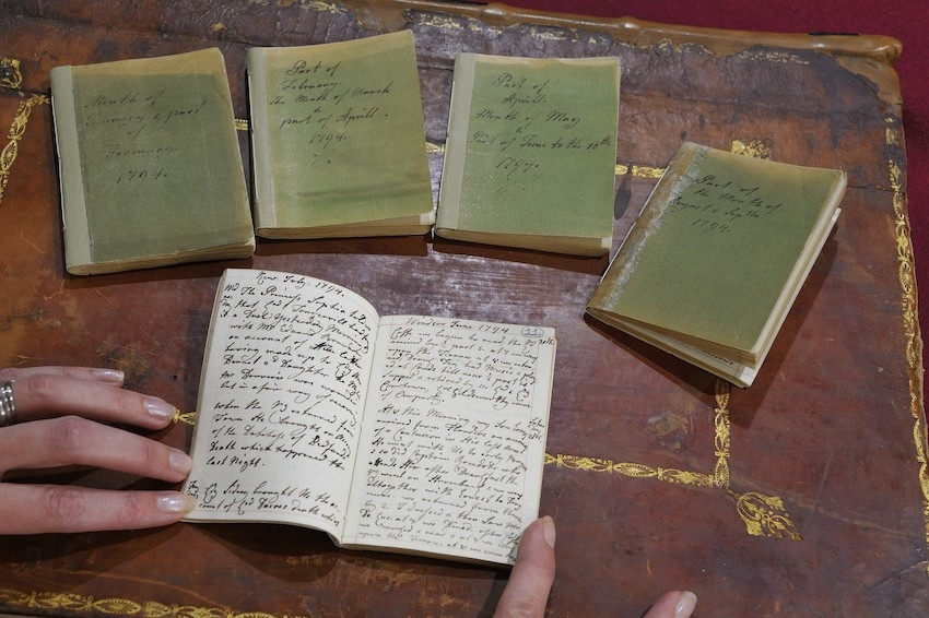 Small diary volumes belonging to Queen Charlotte