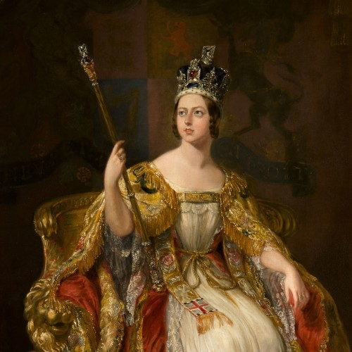 Coronation painting of Queen Victoria