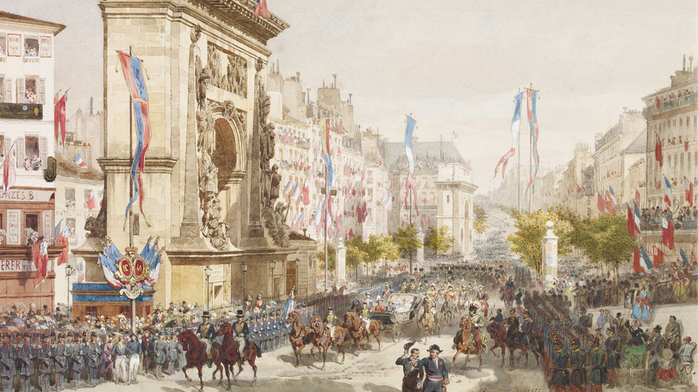 The entry of Queen Victoria into Paris, 18th August 1855
