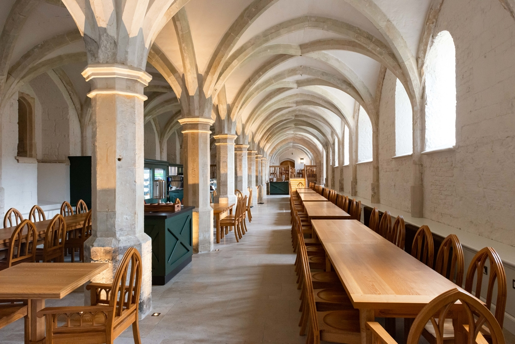 The new Undercroft Café at Windsor Castle.