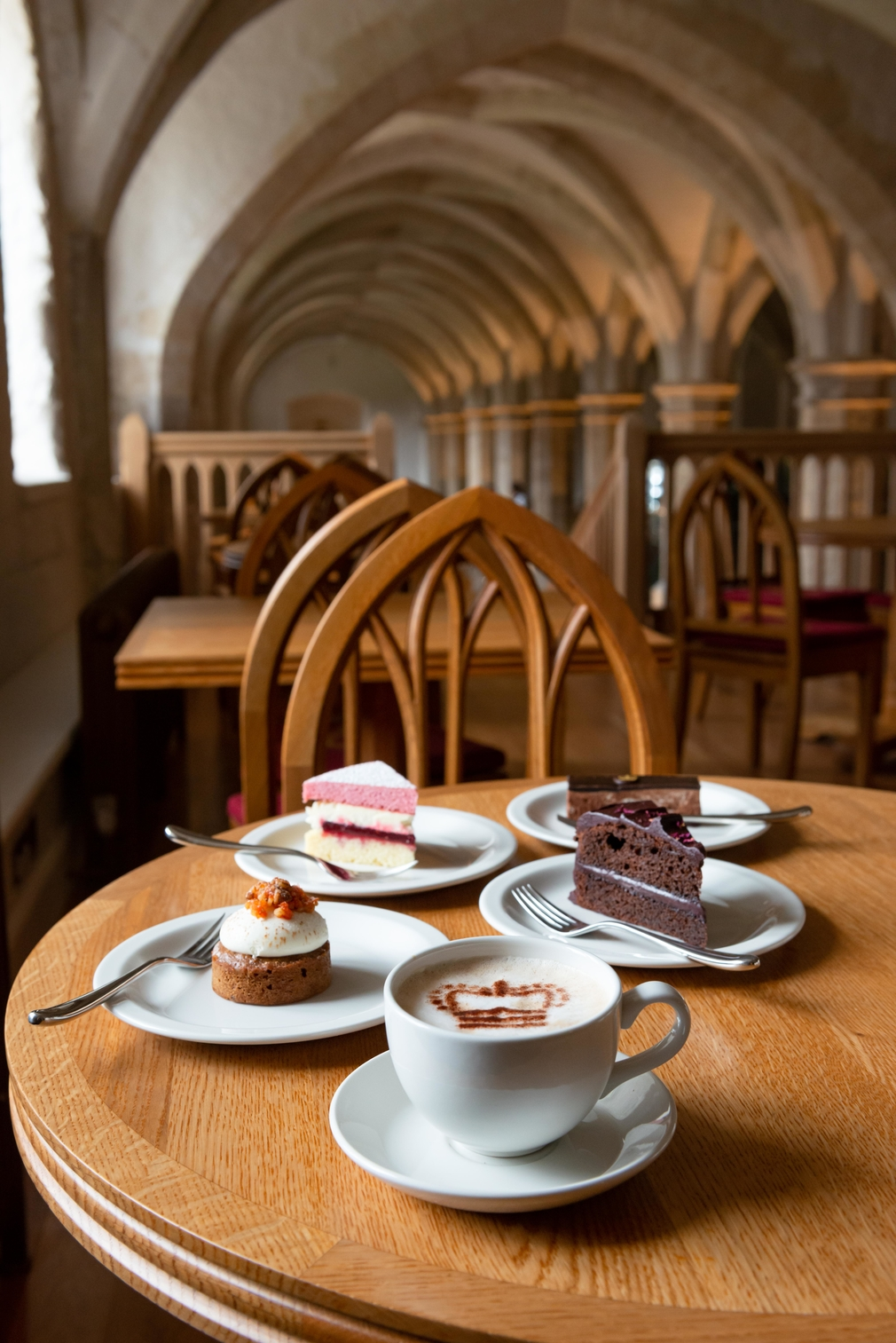 A selection of sweet treats at the Undercroft Café