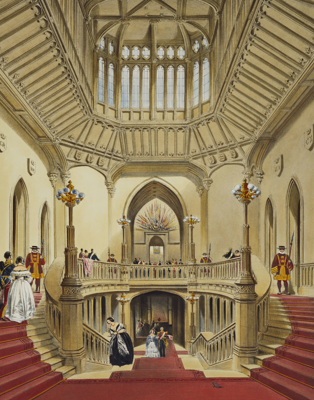 George IV's Grand Staircase, looking down from the first landing.