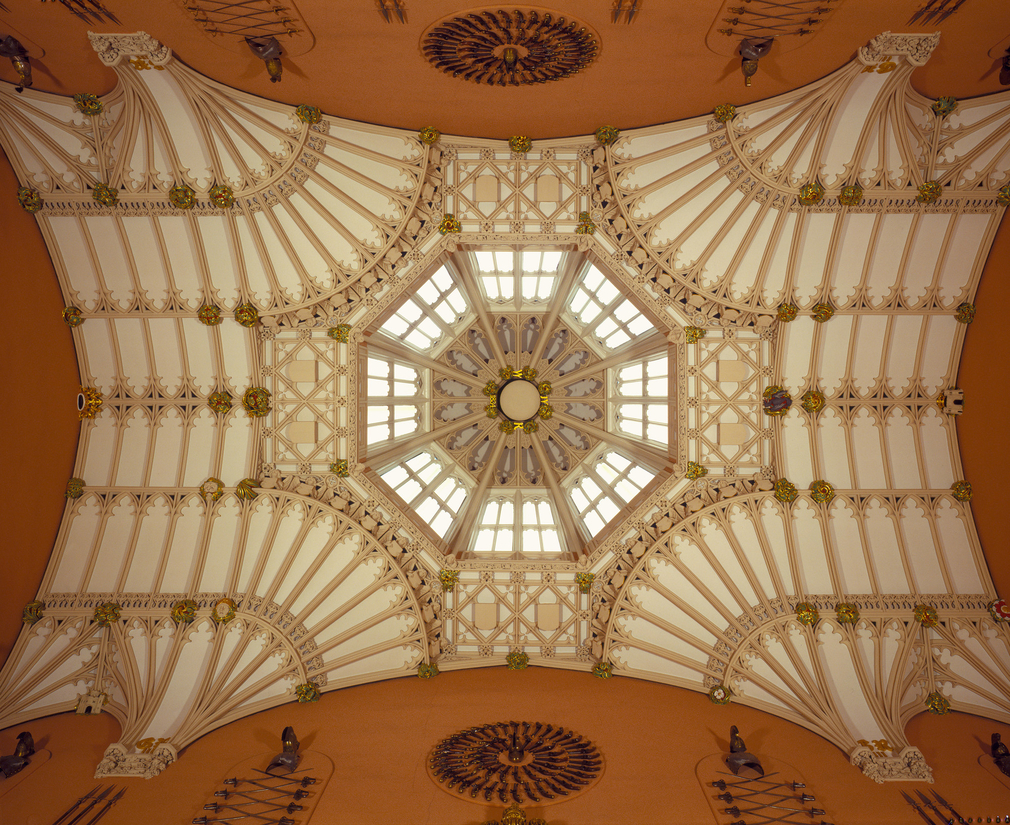 The octagonal lantern designed by James Wyatt for the Grand Stair and now the ceiling of the Grand Vestibule.