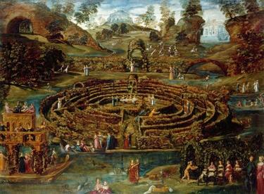 Pleasure Garden with a Maze