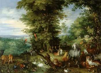 Adam and Eve in the Garden of Eden, 1615