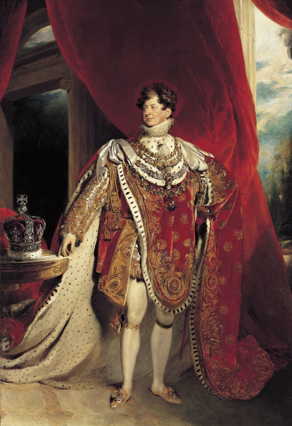 George IV in 1821, two years before he turned his attention to refurbishing Windsor. RCIN 405918