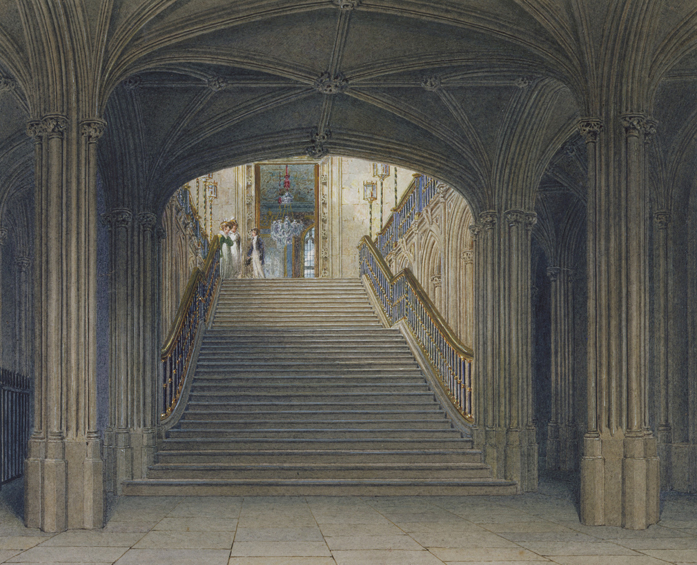 George III's Gothic Grand Stair looking north from the Great Gate.