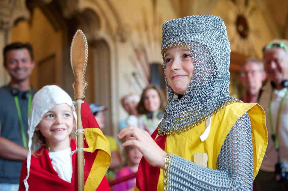 The Knights in Training Day at Windsor Castle.