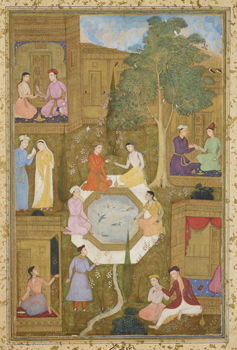 Seven Couples seated in a Persian garden