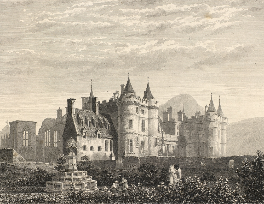 A view of the Palace in 1835, showing where the historic physic garden was located.