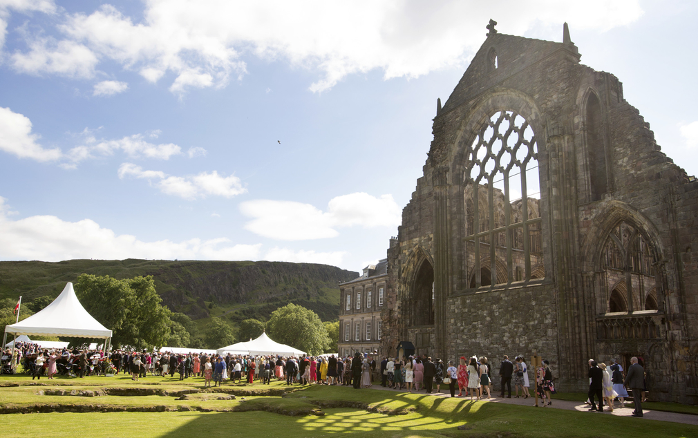 Photograph of The Queens Garden Party at Holyrood Palace