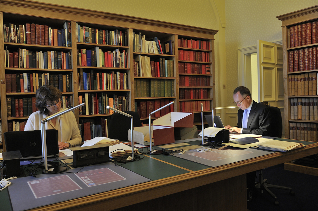 Research room in the Royal Archives