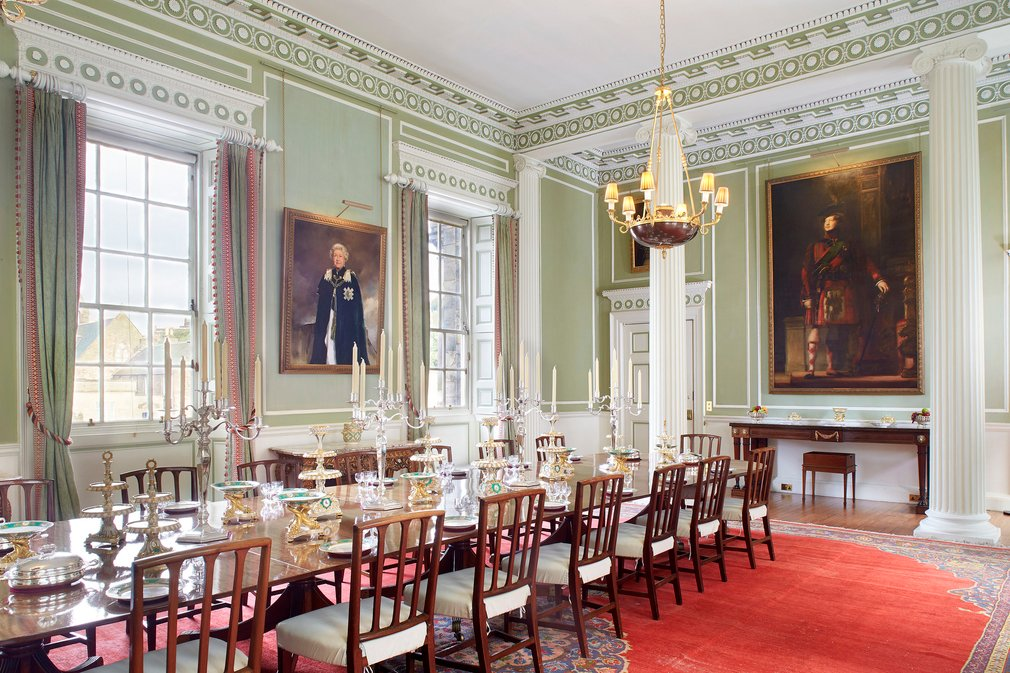 Royal Dining Room at the Palace of Holyroodhouse