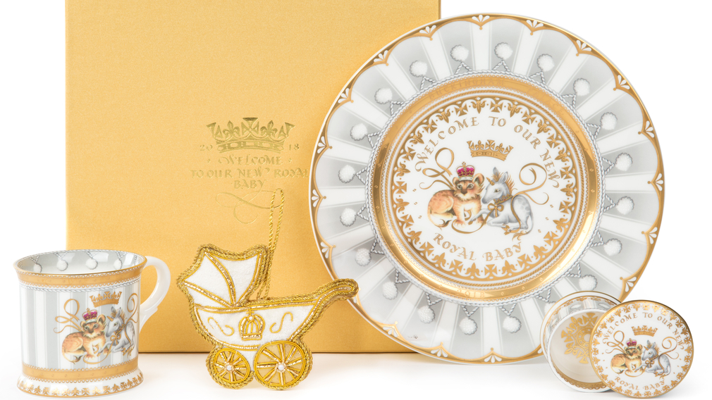 official commemorative chinaware to celebrate the birth of a son