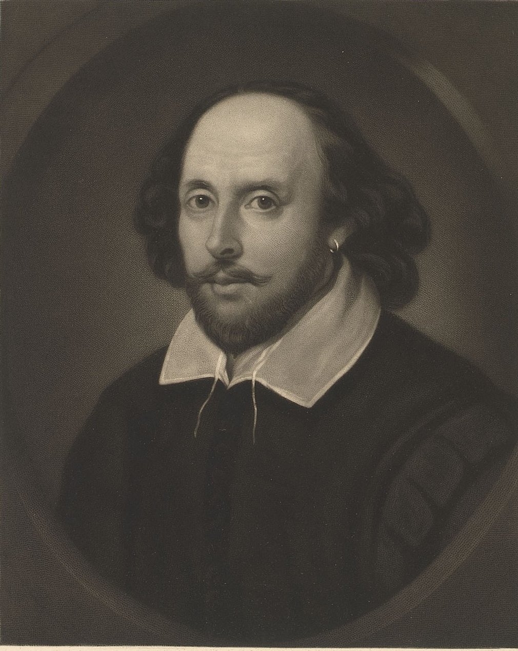 Engraved portrait of William Shakespeare
