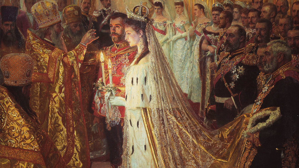 Laurits Regner Tuxen, The Marriage of Nicholas II, Emperor of Russia, 26th November 1894, 1896