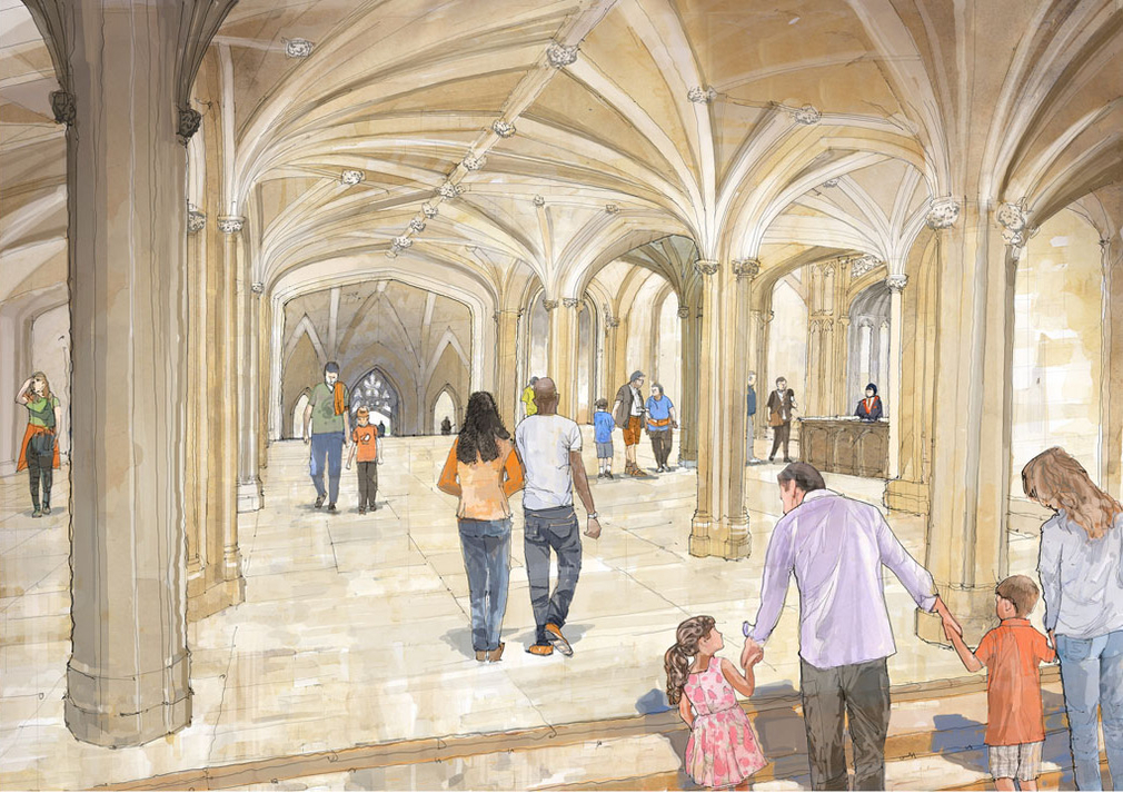 An artist's impression of the reinstated Inner Hall, linking the entrance on the North Terrace to the State Entrance.