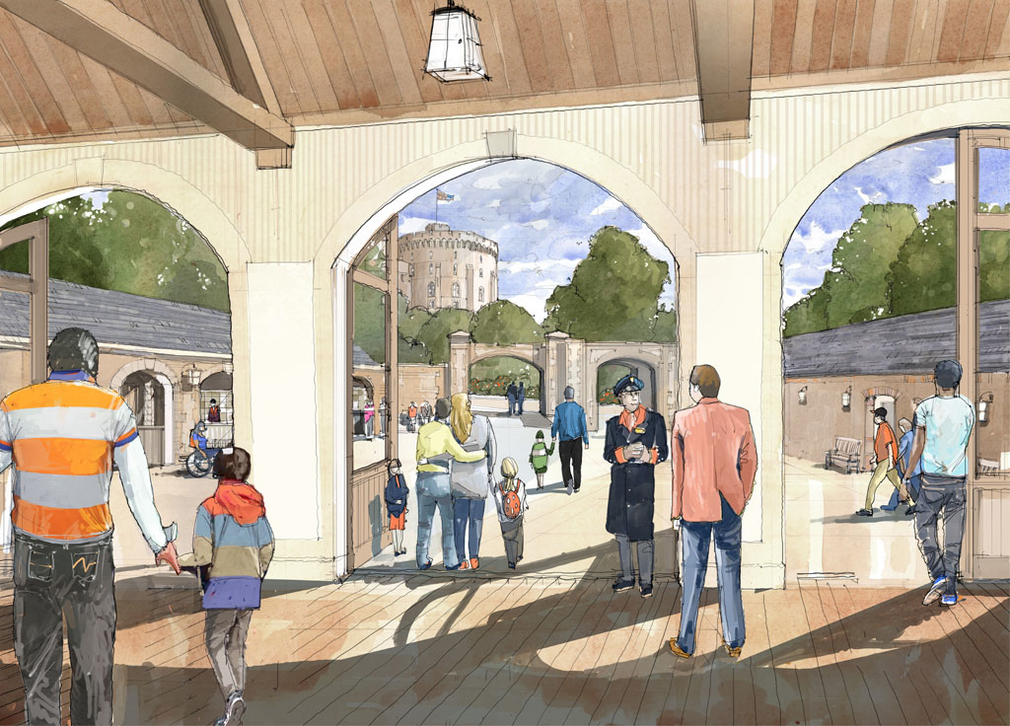 An artist's impression of the new vista of the famous Round Tower from the enlarged Ticket Hall.