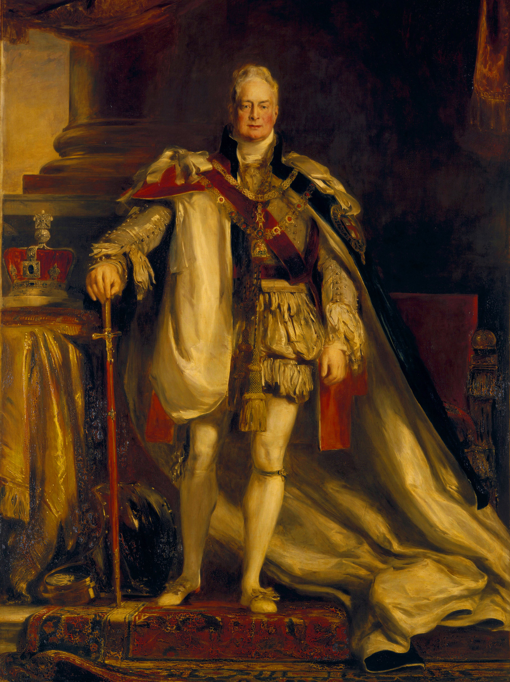 Portrait of William IV in Garter Robes