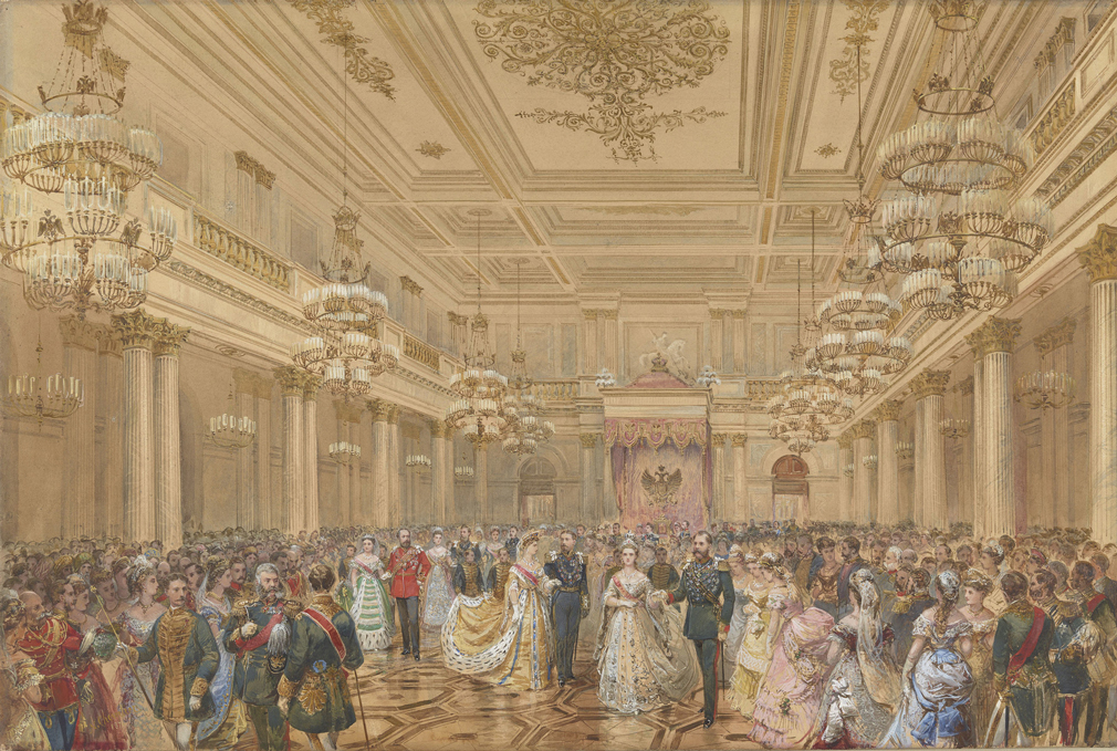The Bal Polonais at the Winter Palace, St Petersburg, 23 January 1874