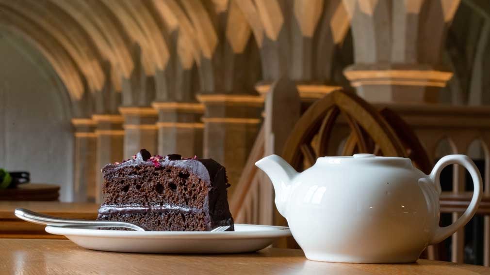Undercroft Cafe tea and cake