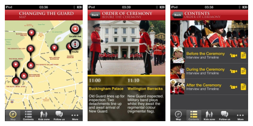 Changing the guard at Buckingham Palace app screenshots