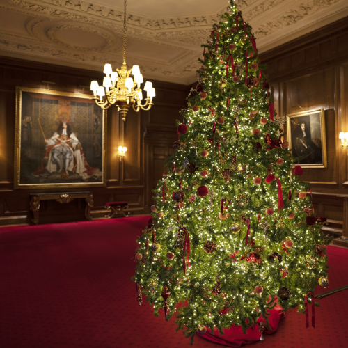 Christmas tree in the Throne Room, Palace of Holyroodhouse