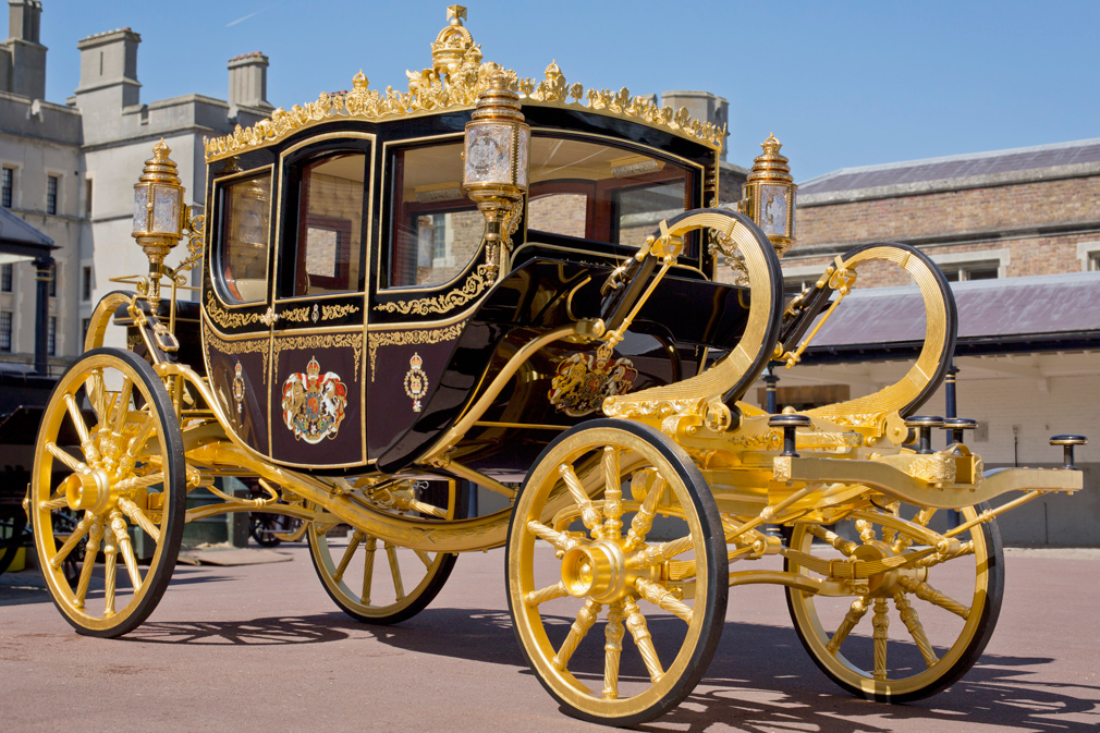The Diamond Jubilee State Coach, the newest carriage created for The Queen in 2013.