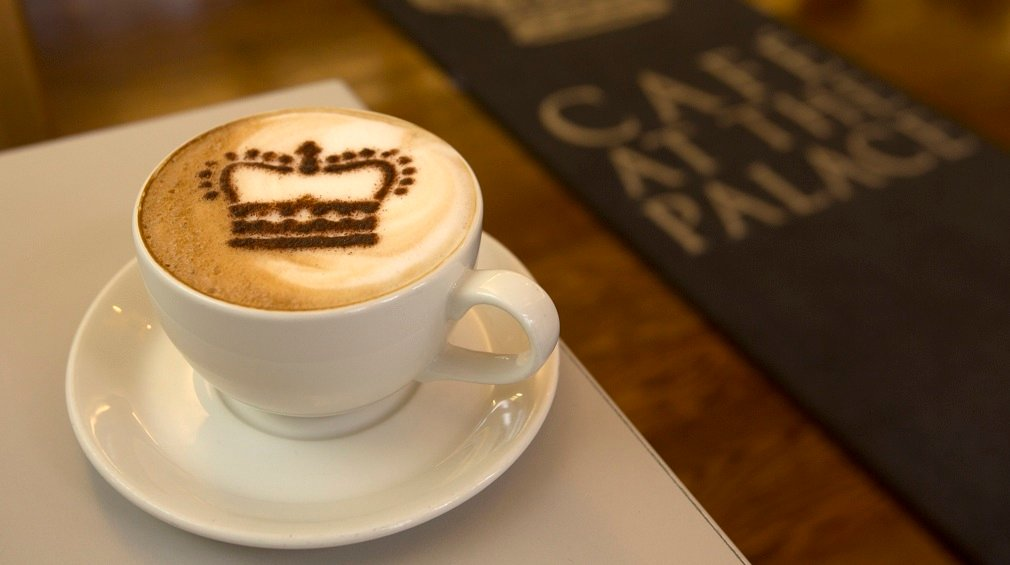 Enjoy a range of hot drinks at the Café at the Palace