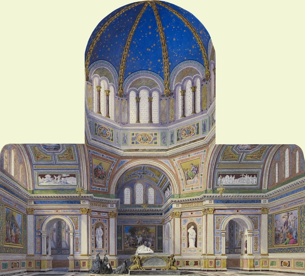 Rcin 919739 Royal Mausoleum Frogmore Realised Design Of The