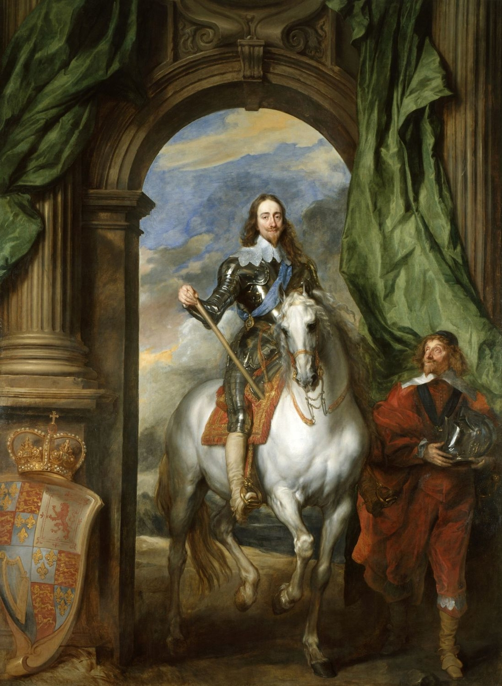 On his appointment as Principal Painter to Charles I in 1632, the Flemish artist Van Dyck - Rubens's most gifted follower - was required to specialise in portraiture. This is one of the chief paintings to result from his appointment, which revolutionised