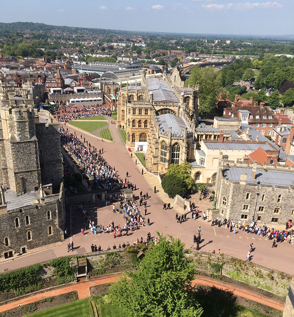 View from the Round Tower on the wedding day of HRH Prince Harry and Ms Meghan Markle.