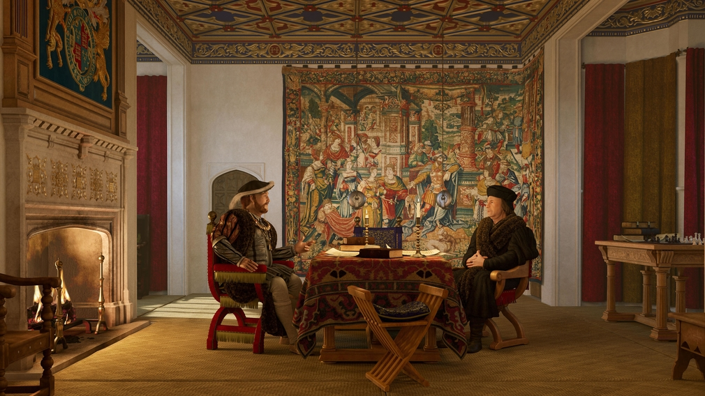 Reconstruction of Henry VIII's private chamber.
