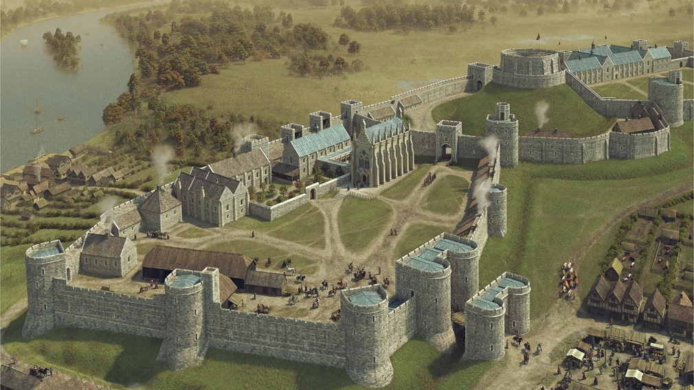 Windsor Castle during the reign of Henry III.