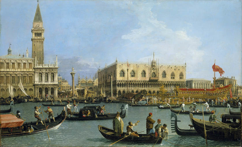 The Bacino di S. Marco on Ascension Day by Canaletto