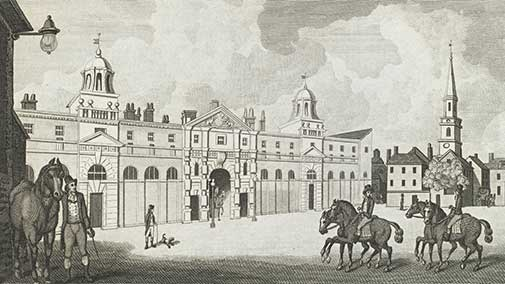 Royal Stables in the Mews Charing Cross, 1793