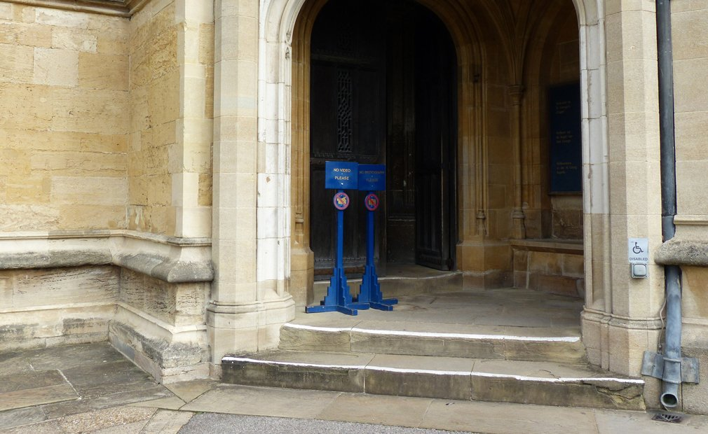 Stone steps into St George's Chapel