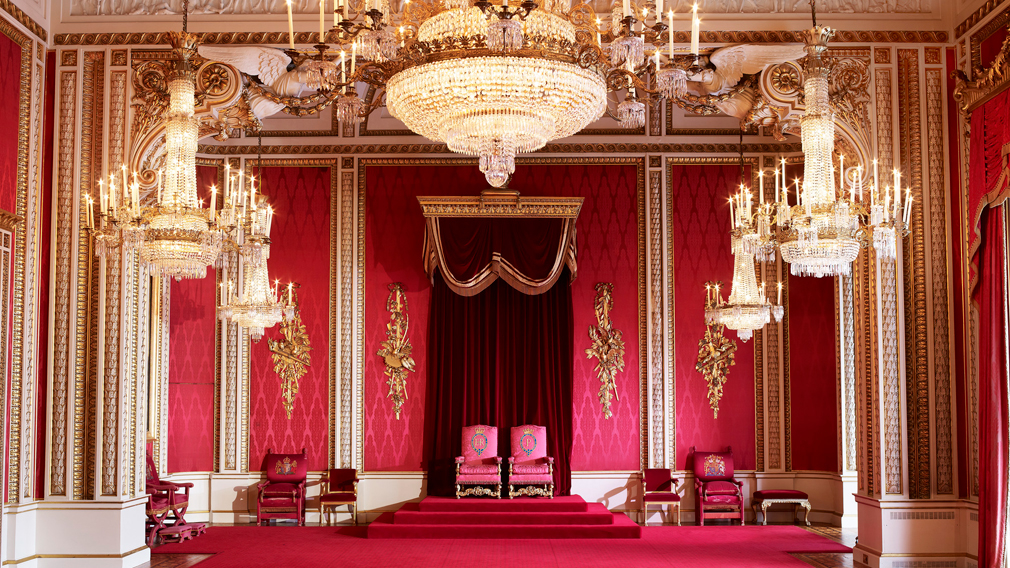 The Throne Room in Buckingham Palace