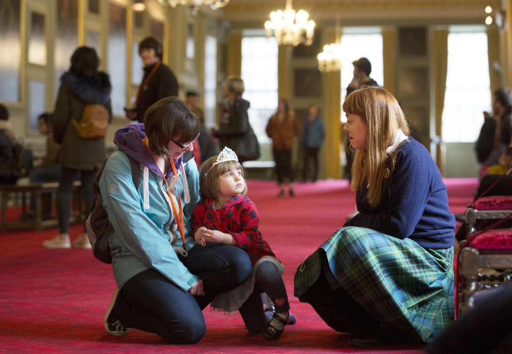 Family visit to the Palace of Holyroodhouse